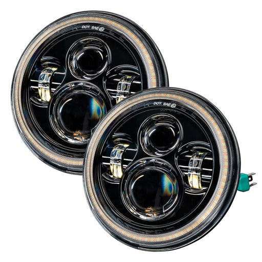 Oracle 07-18 Jeep Wrangler JK Switchback LED Halo Headlights- DRL and Turn Signal (5769-123) - Wreckless Motorsports