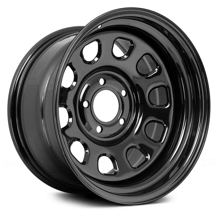 Rugged Ridge D Window Wheel, 17x9, Black, 5x5 Bolt Pattern - Wreckless Motorsports