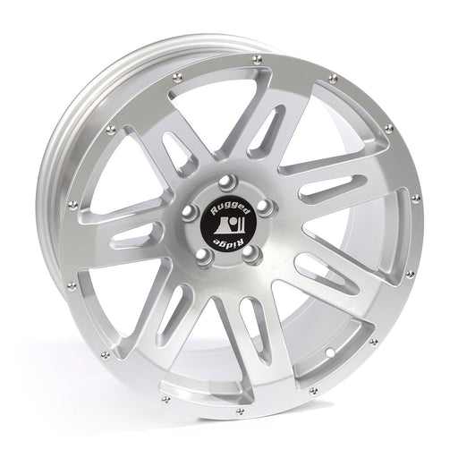 Rugged Ridge XHD Wheel, 17x9, Silver; 07-19 Jeep Wrangler/Gladiator - Wreckless Motorsports