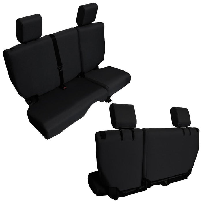 Bartact 2013-18 Jeep Wrangler JKU Base Line Performance 4 Door Split Bench Seat Covers - Wreckless Motorsports