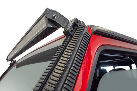 DV8 Off-Road Jeep JL/Gladiator Picatinny Rail A Pillar Light Mount (D-JL-190052-PIL) - Wreckless Motorsports