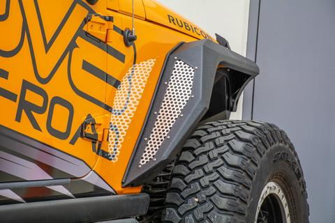 DV8 Off-Road Jeep JK Bolt On Armor Style Fenders Front and Rear 2 Door and 4 Door (FENDB-09) - Wreckless Motorsports