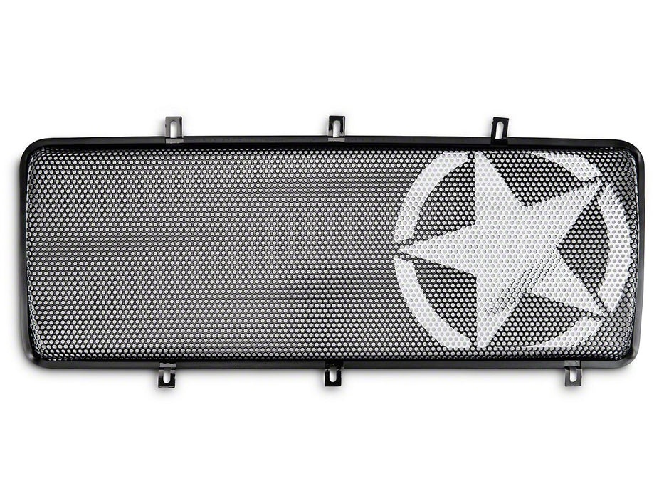 Rugged Ridge Spartan Grille Insert, Military Star; 07-18 Jeep Wrangler JK (12034.21) - Wreckless Motorsports