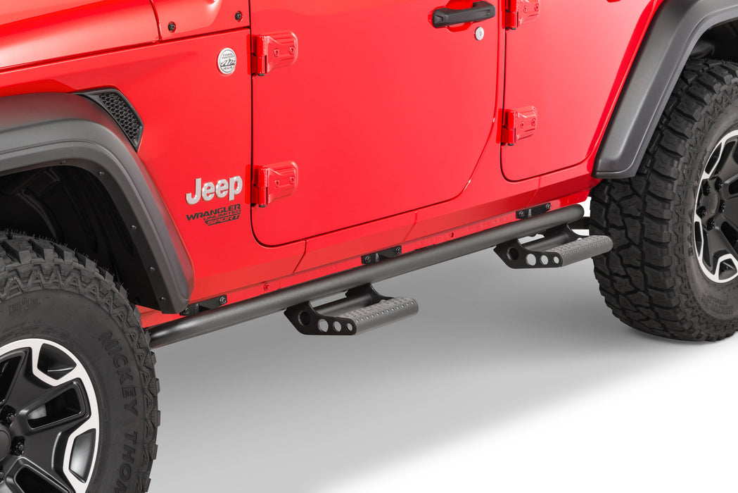 N-FAB Rock-Rail Step System for 18-20 Jeep Wrangler JL Unlimited (J184RKRS4) - Wreckless Motorsports
