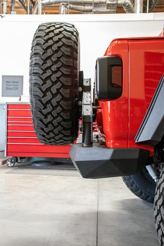 DV8 Off-Road Jeep JL Rear Bumper and Tire Carrier (RBJL-02) - Wreckless Motorsports