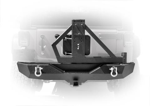 DV8 Off-Road RS-2 Single Action Rear Bumper & Tire Carrier (RBSTTB-02) - Wreckless Motorsports