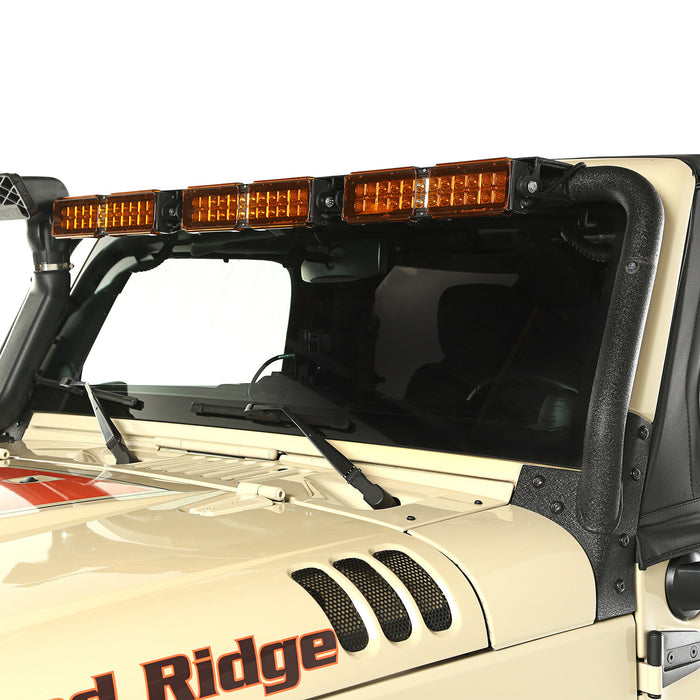 Rugged Ridge Light Bar Kit, Windshield Mounted; 07-18 Jeep Wrangler JK (11232.26) - Wreckless Motorsports