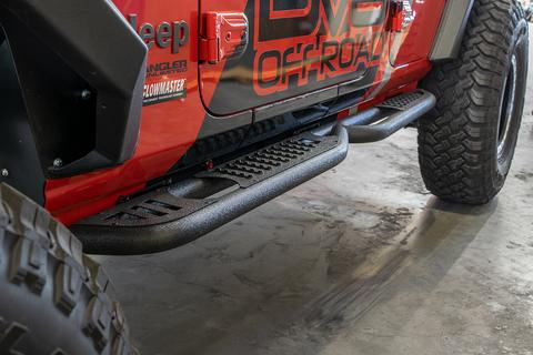 DV8 Off-Road Jeep JL Tubular Slider/Step (SRJL-02) - Wreckless Motorsports
