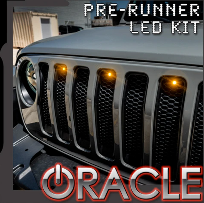 ORACLE LIGHTING PRE-RUNNER STYLE LED GRILL LIGHT KIT FOR JEEP GLADIATOR JT