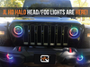 "Quake LED RGB Halo 9"" LED Headlight Kit (QTE914) - Wreckless Motorsports"