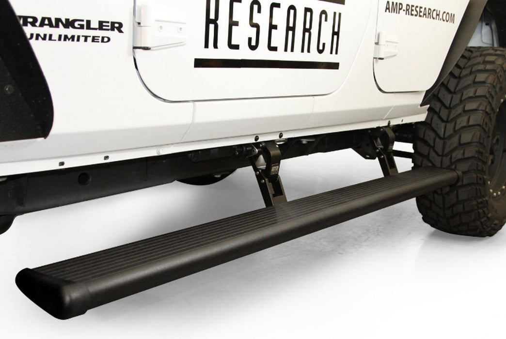 AMP Research PowerStep Xtreme Electric Running Boards for 2018 Jeep Wrangler JL, 4-Door (78132-01A) - Wreckless Motorsports