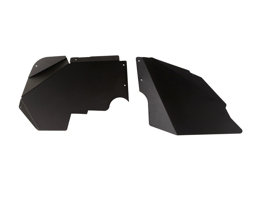 Rugged Ridge Aluminum Inner Fender Liners; Black; 07-18 Jeep Wrangler JK (11615.07) - Wreckless Motorsports