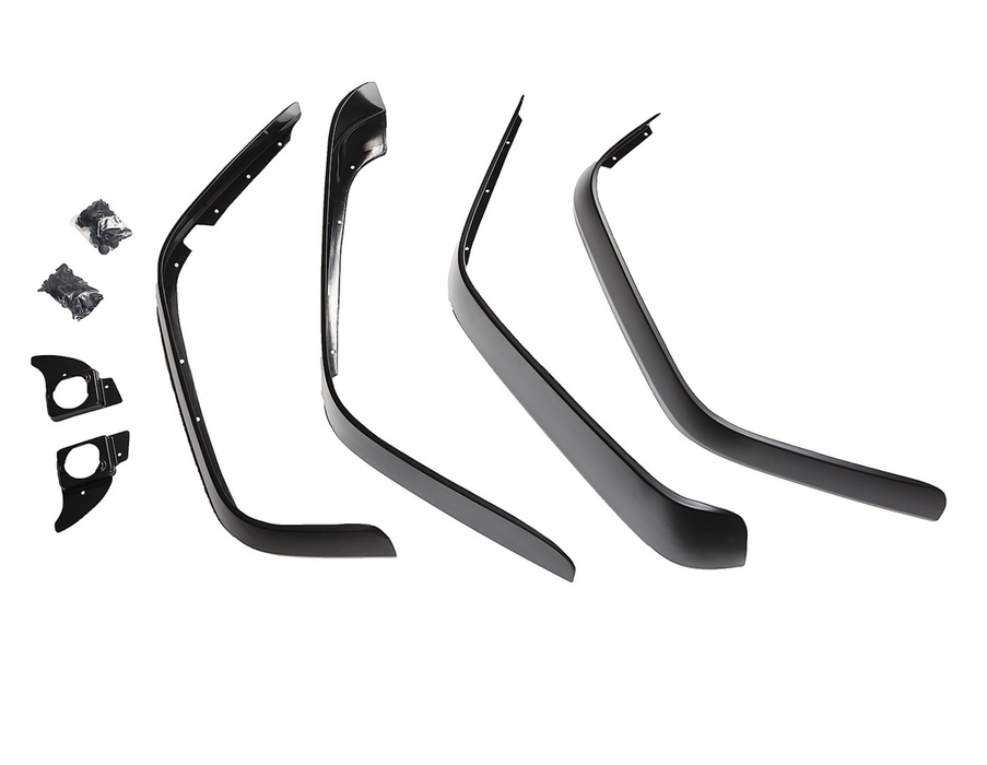 Rugged Ridge All Terrain Flat Fender Flare Kit, 8 Piece; 07-18 Jeep Wrangler JK (11620.11) - Wreckless Motorsports