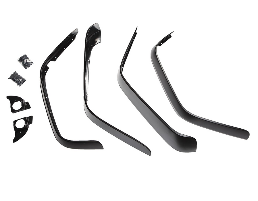 Rugged Ridge All Terrain Flat Fender Flare Kit, 4 Piece; 07-18 Jeep Wrangler JK (11620.10) - Wreckless Motorsports