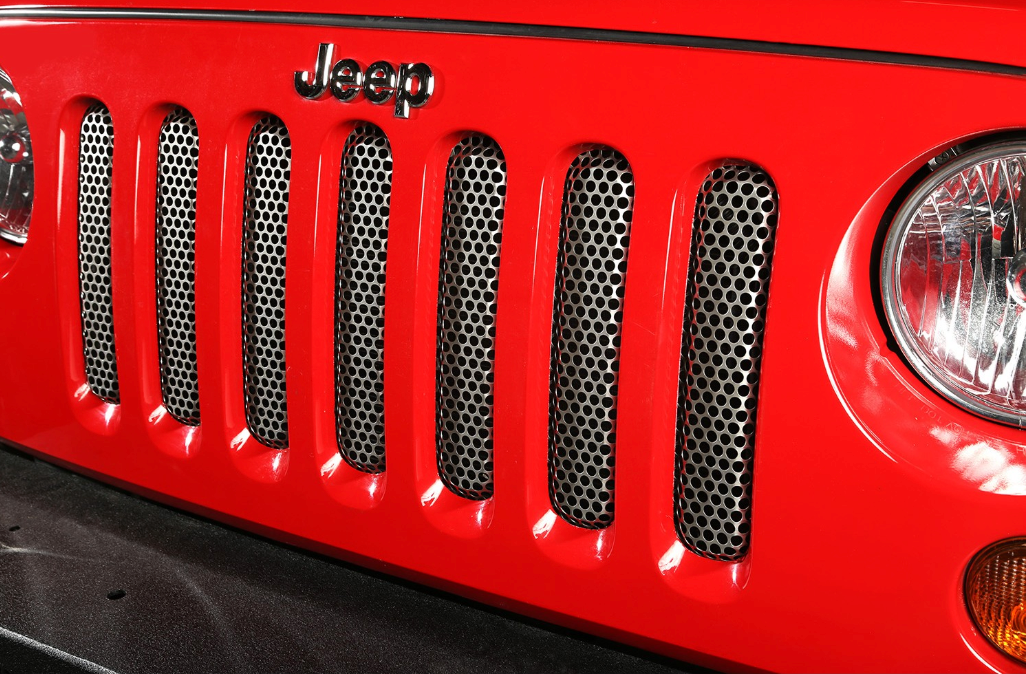 Rugged Ridge Grille Insert, Satin Stainless Steel; 07-18 Jeep Wrangler JK (11401.22) - Wreckless Motorsports