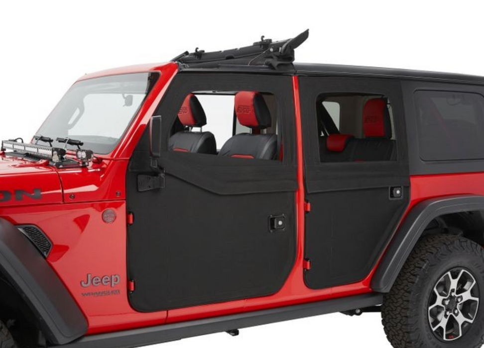 Bestop 2-Piece Full Fabric Doors for Jeep JL | Front Doors
