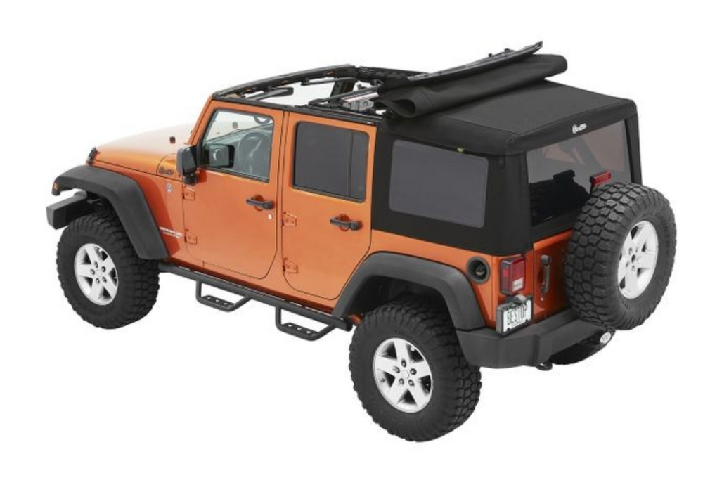 Bestop Supertop Ultra Soft Top | Jeep JK 4 Door | Black Twill (54724-17)