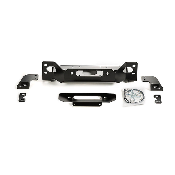 WARN 101255 Winch Mount Plate for 18-20 Jeep Wrangler JL with Factory Steel Bumper - Wreckless Motorsports