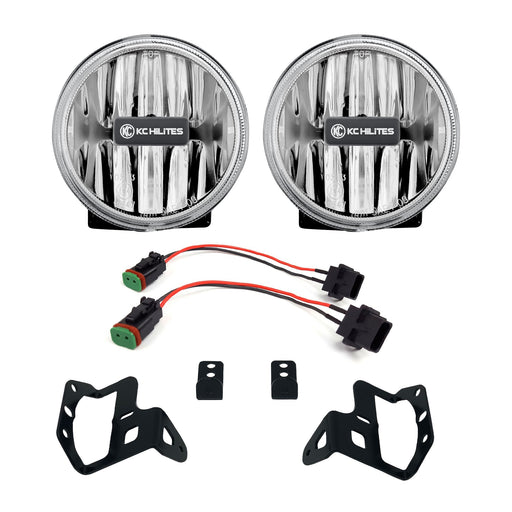 KC HiLiTES Gravity® LED G4 Amber Fog Lights for Jeep JL & JT Sport-S-Altitude Bumper - Wreckless Motorsports