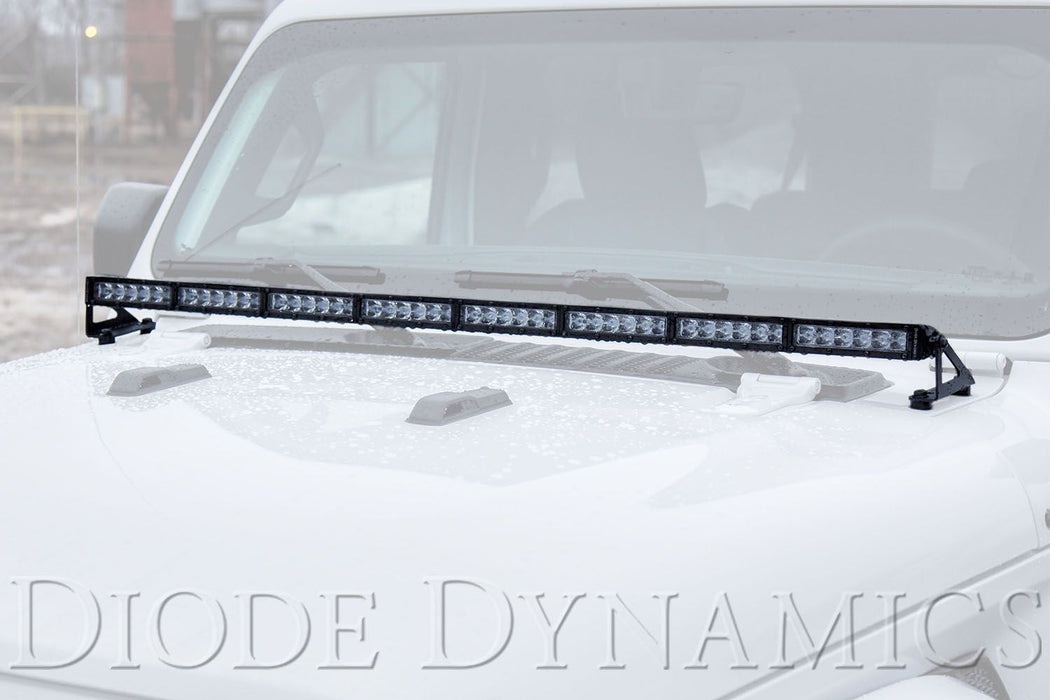 Diode Dynamics 2018-2019 Jeep JL Wrangler Hood LED Light Bar Kit - Wreckless Motorsports