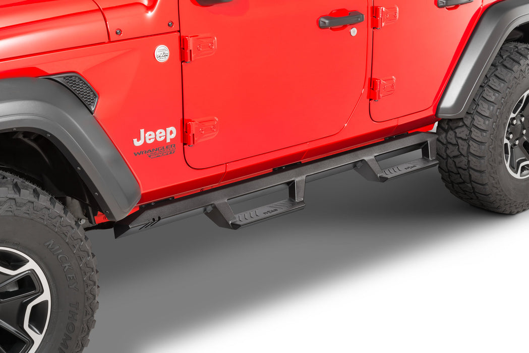N-FAB EpYx Side Steps for 18-20 Jeep Wrangler JL Unlimited (EXJ184-TX) - Wreckless Motorsports