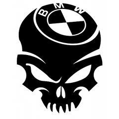 Sticker BMW Skull