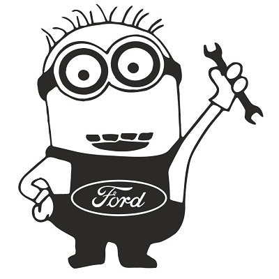 Sticker Minion Mecanic Ford