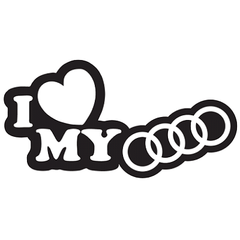 Sticker Love my Audi