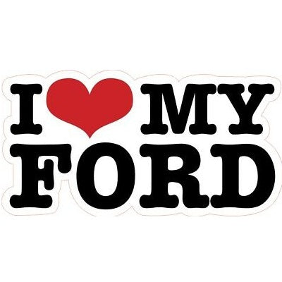Sticker I Love My Ford
