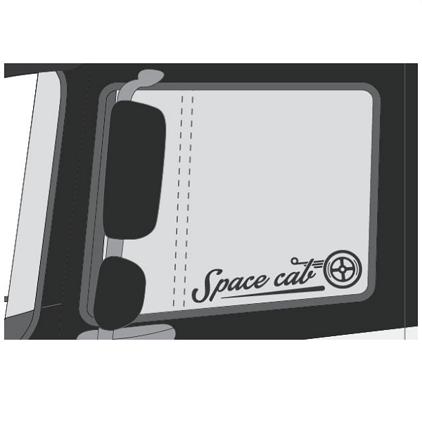 Sticker Space Cab