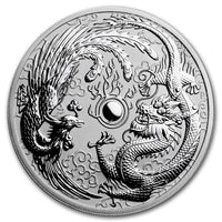 2017 Australia 1 oz Silver Dragon & Phoenix BU - Jungle Park Toys