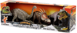 Kid Galaxy Dinosaur 3 Pack Action Figure - Jungle Park Toys