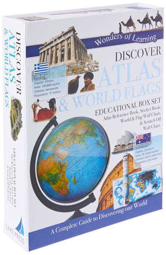 Wonders Of Learning Box Set Atlas And Flags Paperback – 1 October 2017 - Jungle Park Toys