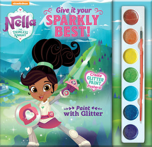 Nella The Princess Knight Paint with Glitter Give it Your Sparkly Best! Paperback - Jungle Park Toys