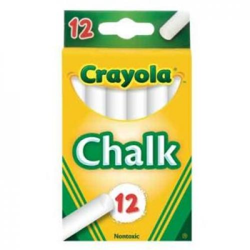 CRAYOLA CHALK STICKS (WHITE) 12PK - Jungle Park Toys
