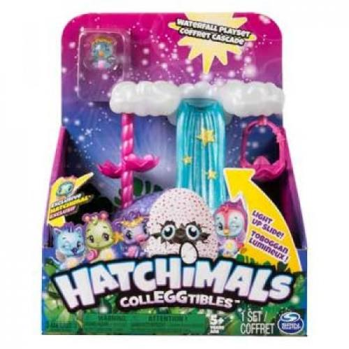 HATCHIMALS COLLEGGTIBLES SERIES 4 SHOW HOW YOU GLOW WISHING WATERFALL - Jungle Park Toys