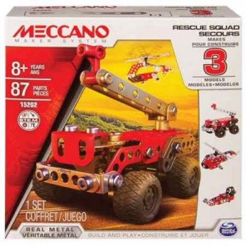 Meccano 3 Model Set - Fire Engine - Jungle Park Toys