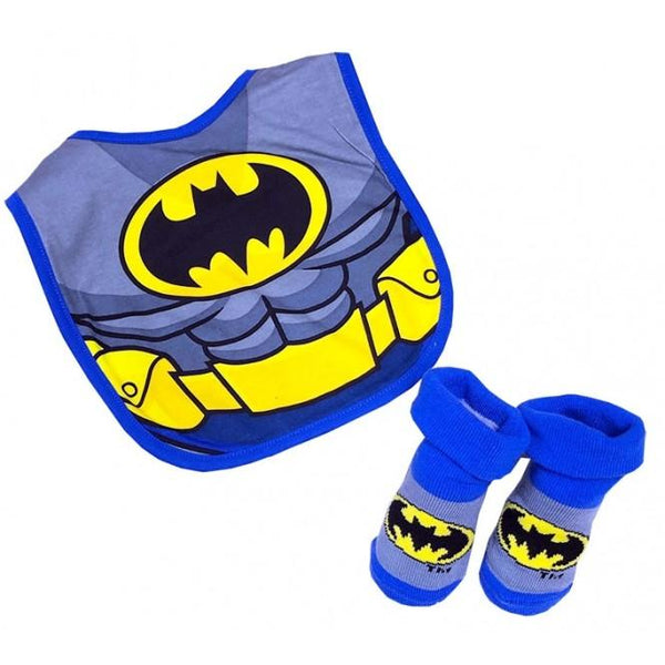 DC Super Friends Batman Baby Bib & Booties Set 6 to 18months - Jungle Park Toys