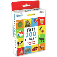 First 100 Alphabet Matching Card Game - Jungle Park Toys