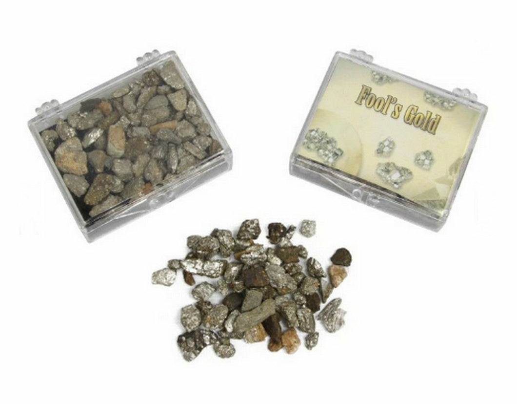 1 x Fools Gold Pyrite Fake Pretend Nuggets Box Rock Pirate Party Favour Novelty - Jungle Park Toys