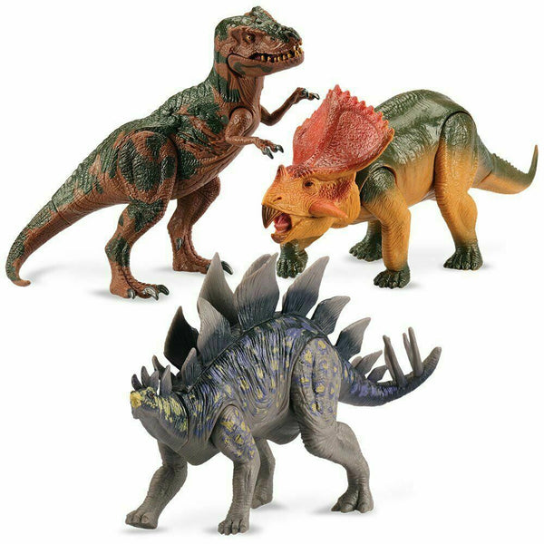 "Dinosaurs 9"" Poseable 3 pack Create epic Battles - Jungle Park Toys"