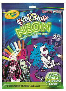 Color Explosion Neon - Coloring Set - Monster High - Crayola - Jungle Park Toys