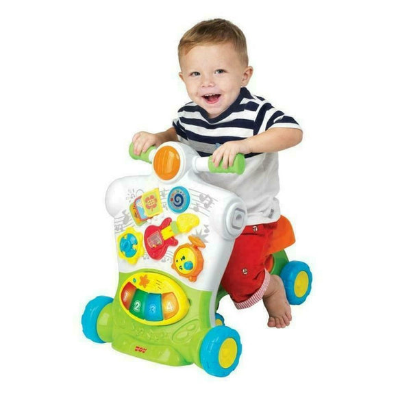 3-In-1 Musical Ride On Walker - Little Learner - Jungle Park Toys
