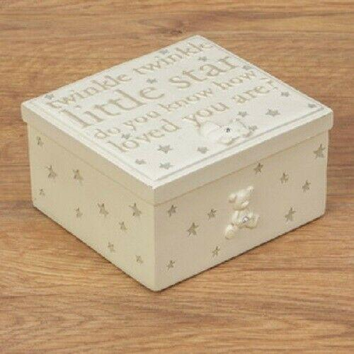 CUTE BABY TRINKET BOX-TWINKLE TWINKLE (GIFT BOX) 11 cm x 10 cm Brand New - Jungle Park Toys