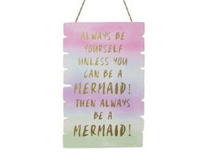 HANGING MERMAID PLAQUE - Jungle Park Toys