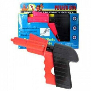 Toy Gun Pistol Retro Potato Spud Gun XMAS Gift For Kids Child Boy - Safe Gun - Jungle Park Toys