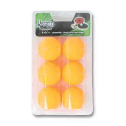 6 x 40mm 1 Star Table Tennis Balls - Jungle Park Toys