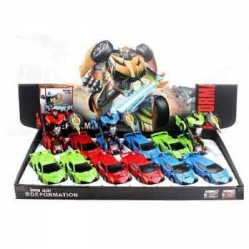 LIGHTS & SOUNDS DIECAST TRANSFORMABLE CAR ASSORTED - Jungle Park Toys