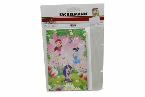 Fackelmann Invitation Cards Pack - Fairies Pack of 10 - Jungle Park Toys