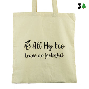 """Leave No Footprint"" Tote Bag"